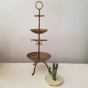 Anthropologie | Metal Jewelry Storage Stand